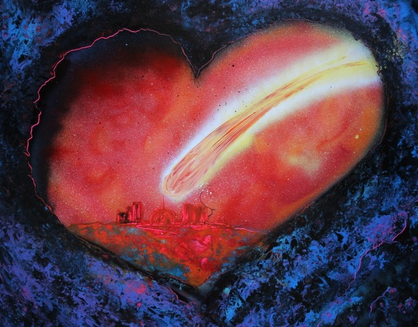 red heart meteor